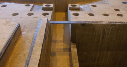Concrete machine foundations and plinths
